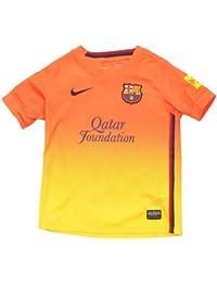 Nike F.C. Barcelona - Camiseta de fútbol infantil, 2ª equipación, 2012-13, color azul / rojo, talla XS