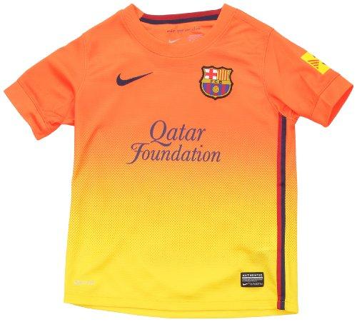 Nike, Maglia FC Barcelona Away Kinder, Arancione (safety orange/tour yellow/midnight navy), XL - Arancione Nike Jersey