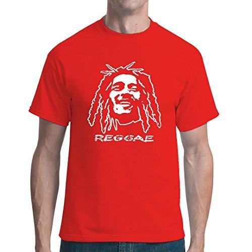 Im-Shirt - Reggae Dreadlocks cooles unisex Fun Shirt - Rot XXL