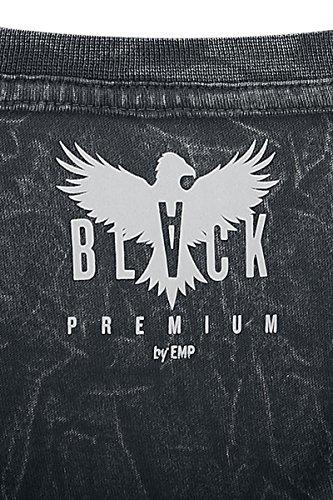 Black Premium by EMP Fight Till Death Crinkle Roundneck T-Shirt schwarz Schwarz