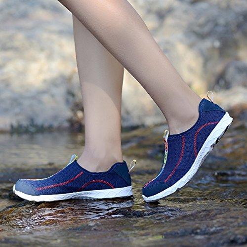 Neoker Plongée Chaussures Scoglio Bain Chaussures Femmes Hommes Seaside Plage Yoga Élastique Anti-slip Super Léger Rapide Sèche Unisexe Chaussures 36-45 Bleu Profond