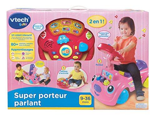Vtech - 157955 - Jouet D'Éveil - Super Porteur Parlant 2 En 1 - Rose