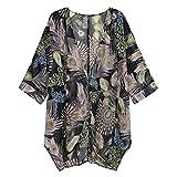 Chiffon Cardigan MEIbax Damen Casual Blumendruck Langarm Chiffon Cardigan Lose Kimono Bluse Tops Casual Langarm Baggy Blumendruck Hemd