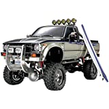Tamiya 300058397 - Toyota Hilux Hi Lift, ferngesteuertes Offroad Fahrzeug, 1:10, Elektromotor, Bausatz