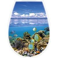 """Bisk """"LILIA""""  Abattant en Polypropylene finition photo d'océan # 04155"""