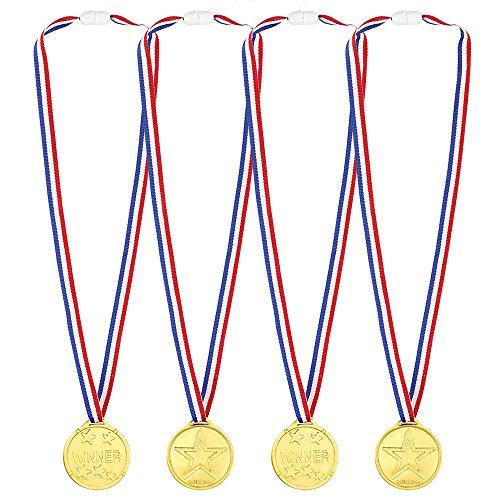 old Medaillen Kunststoff Gold Gewinner Medaillen für Kinder Sport Party, Wettbewerb, Preise ()