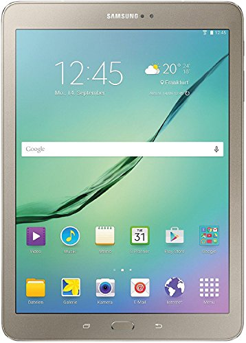 Samsung Galaxy Tab S2 Gold Edition T810N 24,6 cm (9,7 Zoll) Tablet-PC WiFi (2 Quad-Core Prozessoren, 1,9GHz + 1,3GHz, 3GB RAM, 32GB, Android 5.0) gold
