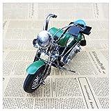 GWModel Oldtimer Motorrad Modell Handarbeit Schmiedeeisernen Antiken Modell Fahrzeug Sammlung Home Desktop Retro Dekorationen Kreative Persönlichkeit Ornamente Erwachsenen Geschenke, Grün