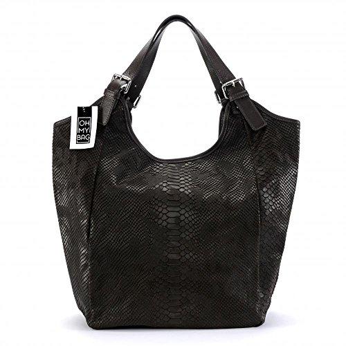 OH MY BAG Sac à Main cuir façon serpent porté main et épaule Modèle Khasmir Nouvelle collection - SOLDES