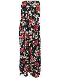 Universal Textiles Womens/Ladies Floral Print Strapless Maxi Dress
