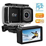 VTIN Action Kamera, WIFI sports cam Unterwasserkamera Helmkamera 12MP 2,45 'Touchscreen Full HD...