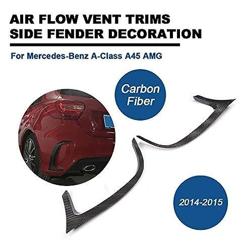 Fibre de carbone aération pare-chocs arrière extérieur Garniture pour Mercedes Benz A-Class W176A45AMG 201420152016Tgfof Body Kit