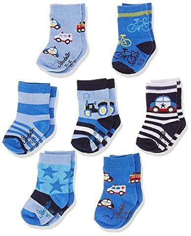 Sterntaler Baby-Jungen Socken Söckchen 7er-Box, Blau (Enzian 377), 18