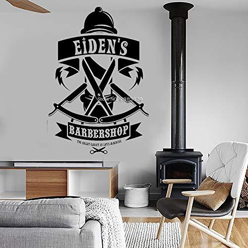 Besten Fake BART - supmsds Personalisierte Barber Shop Name Decals