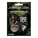KINGS OF LEON - BADGE PACK - PACK OF 4 X 38MM BADGES - BRAND NEW