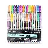 yuyoug Büro Schule 36Pack/Set Brilliant Farben Refills Marker Watercolor Gel Pen Textmarker Neon ersetzen Vorräte für Malen und Schreiben, Karte machen und DIY Fotoalbum