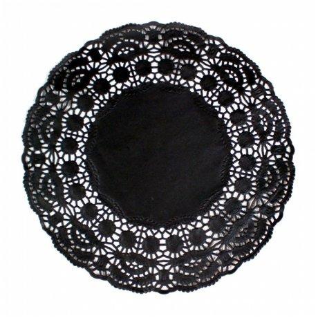 Garcia de Pou 250Einheit rund Deckchen, 14cm, Papier, schwarz, 14x 30x 30cm (Schwarz Deckchen Papier)