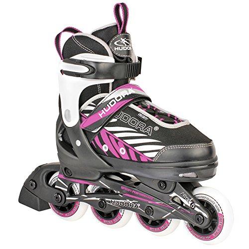 HUDORA Kinder Inliner Mia Gr. 29-40 schwarz-lila Inliner Inlineskates Skates Kinder Skate Inlineskate