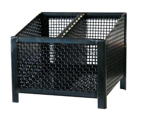 Pelletray Feuerkorb, 4eck Quadro, schwarz, 25x21x21 cm, 013250