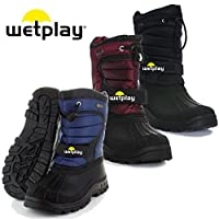 wetplay Kids Waterproof Winter Lined Snow Boots Wellies Boys Girls Childs Childrens Welly Wellingtons