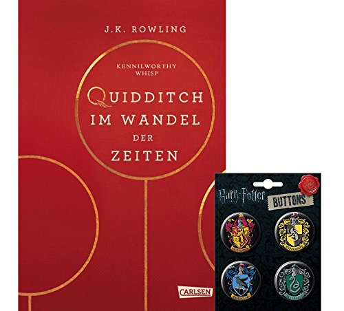 HARRY POTTER Hogwarts-Schulbuch: Quidditch im Wandel der Zeiten (Hardcover) + 1. original Button (Harry Potter Hexen)