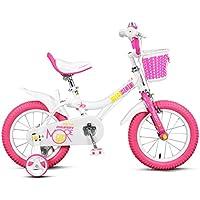 Xiaoping Bicicleta para niños, bicicleta de niña de 2 a 8 años, rosa blanco