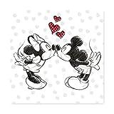 Keilbild Wandbild Leinwand RIVO 15 | Minnie und Micky Mouse | 35x35 cm