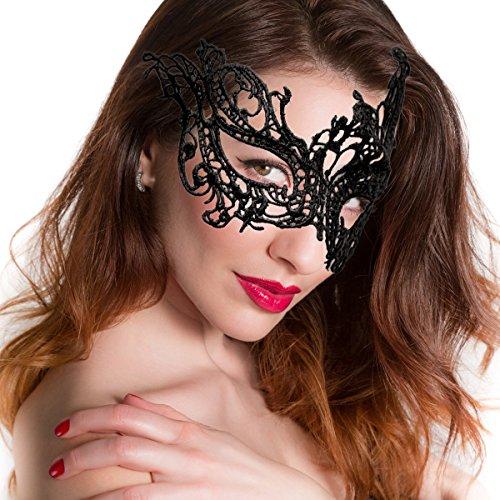 Sexy Laser Cut Venezianische Karneval Maskerade-Gesichts-Maske Halbaugenmaske ()