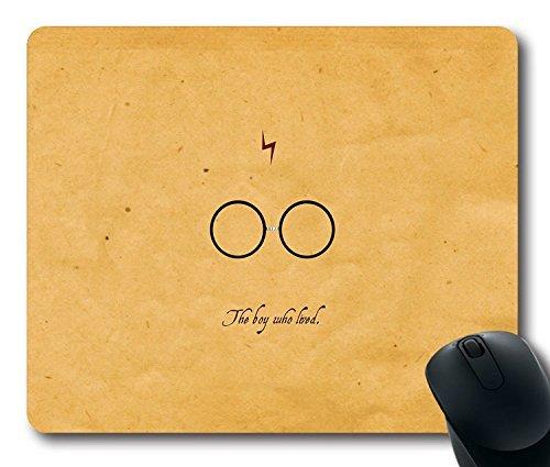 Custom ratón para videojuegos con cita de Harry Potter película antideslizante goma de neopreno tamaño estándar 22,86cm (220mm) X 7cm (180mm) X 1/8(3mm) escritorio Mousepad Laptop Mousepads cómodo alfombrilla para ratón de ordenador