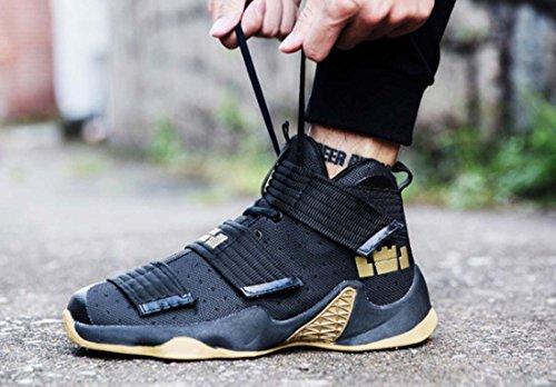 Coppia High Top Large Size 45 Camo Scarpe Da Basket Moda Sneakers Traspiranti Antiscivolo Stivali Sportivi Antiusura Gold
