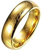 Color Jewels Unisex Verlobungsring Trauring - Herr der Ringe-Stil - Wolfram - Breite 6 mm