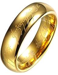 El Senor de los Anillos Lord of the Rings - Anillo unisex de tungsteno - TR9909