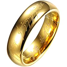 El Senor de los Anillos Lord of the Rings - Anillo unisex de tungsteno - TR9909