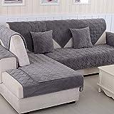 ADENGYAN Flanell Sofa Deckel 1 2 3 4 Sitze, Dick Universelle Short plüsch Sofa Dämpfung,Handtuch, Moderne Einfache Anti-Rutsch Sofabezug-B 70x150cm(28x59inch)