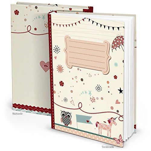 Leeres rosa pink XXL Babytagebuch EINHORN EULE Mädchen Baby Tagebuch Erstes Jahr Buch Babybuch Geschenk Eltern Geburt Kindertagebuch DIN A4...