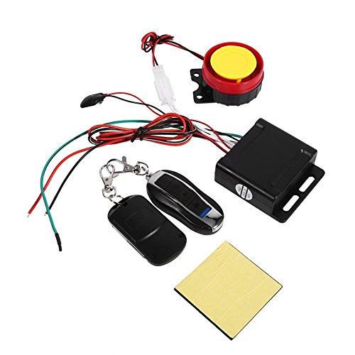 Kit de Système d'Alarme de Sécurité à Distance Démarrage du Moteur pour Véhicule Antivol de Moto Télécommande 12V Anti-Détournement Anti-piratage Universel
