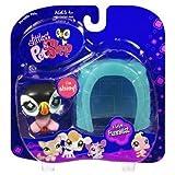 Littlest Pet Shop - Portable Pets - Funniest - Papageientaucher #654 - mit Haus / Vogel