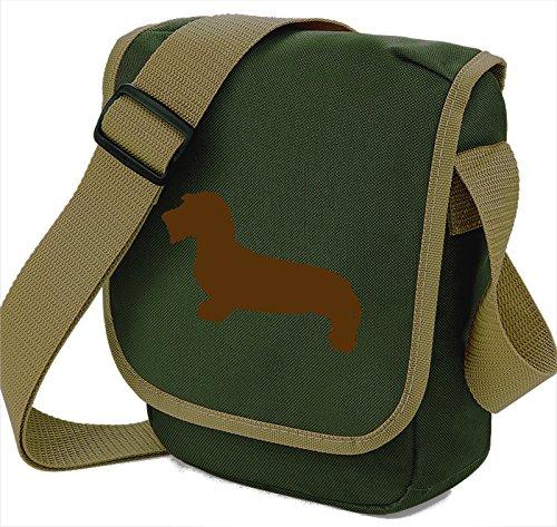 Bag Pixie , Damen Schultertasche Brown Hound Olive Bag