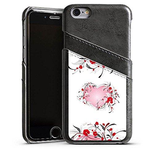 Apple iPhone 5 Housse Étui Silicone Coque Protection Amour Amour C½ur Heart Étui en cuir gris