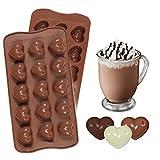 JUNGEN Silikonform mit Motiv Herzen für Zuckerguss Schokolade Seife Dekoration