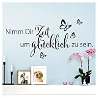 Wandaro W3307Wall Sticker in German Quote