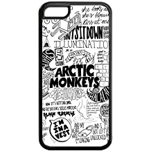 Creative Artic Monkeys Solid Rubber Customized Cover Case for iPhone 5c 5c-linda420