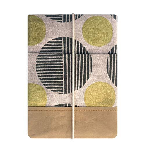 Kuratist eBook Reader Sleeve- Handgemacht aus 100% Baumwolle und Kantenschutz aus Papier in Lederoptik (100% Vegan) (Kindle/Kindle Paperwhite/Tolino Vision 4 HD, Stone Path)