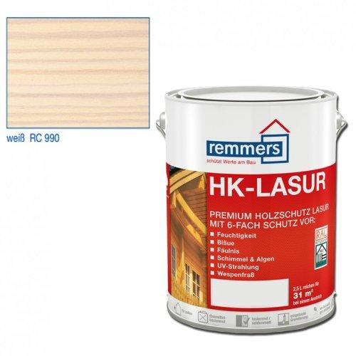 Preisvergleich Produktbild Remmers HK-Lasur Holzschutzlasur 5L Weiss