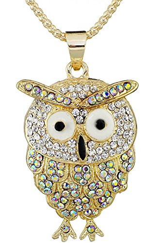 den Owl Crystal Long Chain Necklaces (Golden Ring Walmart)
