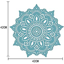 Pegatinas De Pared Decorativas 3d Adhesivas Wall Stickers For Decoracion Mandala Flower Indian Dormitorio Pared Calcomanía Arte Pegatinas Mural Casa Vinilo Familia