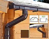 Dachrinnen/Regenrinnen Set | Satteldach (2 Dachseiten) | Kastenrinnen | Kastendachrinnen | BG70 | in braun! (Komplettes Set bis 4.50 m)