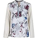 YANG YI Clearance Offer Women's Casual Stylish V Neck Long Sleeves Large Size Floral Print Tops T-Shirts & Shirts Sequined Blouse - B07KK72YM7