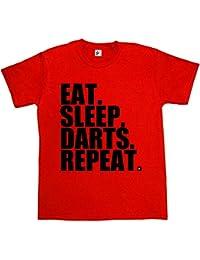 Fancy A Snuggle Eat. Sleep. Darts. Repeat. Bulls Eye Dart Board Mens T-Shirt