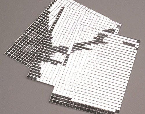 600 Small Silver Self-Adhesive Mirror Mosaic Tiles